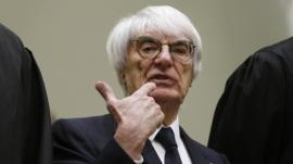Bernie Ecclestone arrives in court