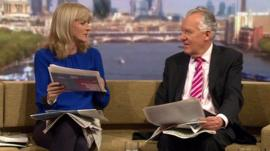Jane Moore and Peter Hain