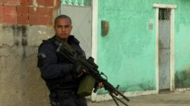 Military policeman in Rio de Janeiro