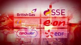 UK energy companies graphic