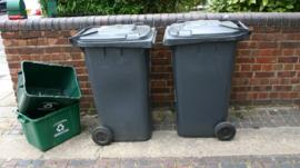 Wheelie bins and recycling boxes