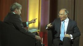 Jeremy Paxman interviewing Michael Howard