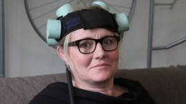 Annemette Øvlisen wearing new depression