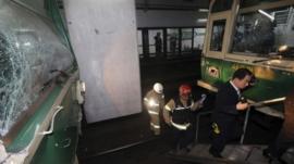 Subway crash in Seoul