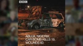 Car damaged by bomb blast