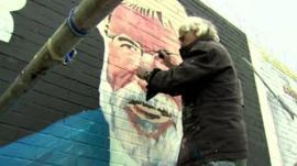 Gerry Adams mural