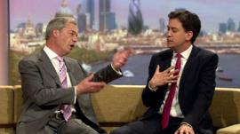 Nigel Farage and Ed Miliband on The Marr Show