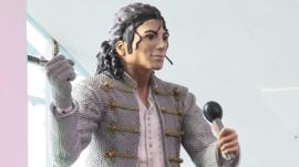 Fulham's Michael Jackson statue is given a new home at the National Football Museum in Manchester.