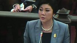 Yingluck Shinawatra in court