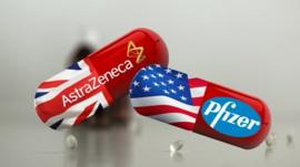 AstraZeneca and Pfizer pills