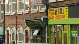 Polish shops in Nottingham