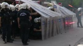 Riot police in Istanbul
