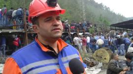 Rescue worker Ugur Acar