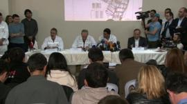 Turkish mine company news conference