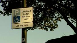 Blue badge sign