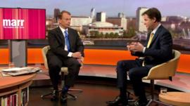 Nick Clegg talks to Andrew Marr