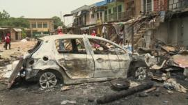 Scene of a bomb attack in Jos
