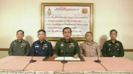 Thai army chiefs announce coup (22 May)