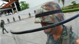 Thai army soldier