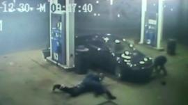 CCTV of carjacking
