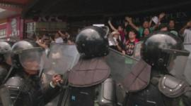 Thai military and protesters
