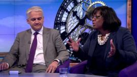 Patrick O'Flynn and Diane Abbott