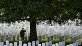 Military graves, Arlington
