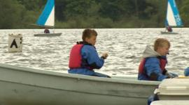 Two boys in a boat