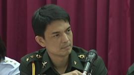 Thai military at a press conference