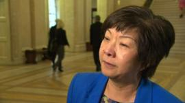 Anna Lo broke down in tears as she spoke to reporters at Stormont