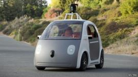 A prototype of Google's own self-driving car