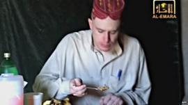 Sergeant Bowe Bergdahl in captivity in 2009