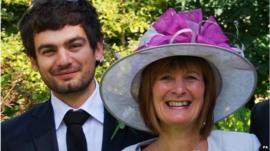 Gareth Huntley with mum Janet Southwell
