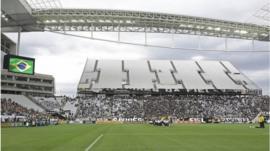 The inside of the stadium