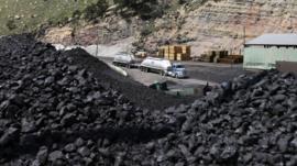 Coal heaps