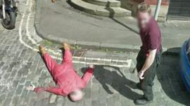 Pranksters caught on Street View images