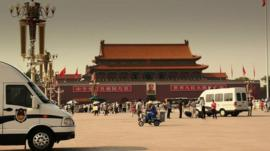 Security has been tightened in Beijing's Tiananmen Square