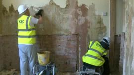 Work on property in Colwyn Bay