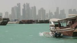 The Doha skyline