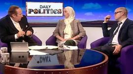 Andrew Neil, Myriam Francois-Cerrah and Toby Young