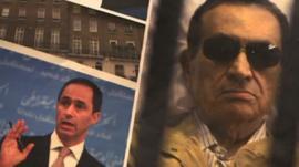 Pictures of Former President Hosni El Sayed Mubarak and this son Gamal Mubarak