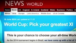 BBC webpage