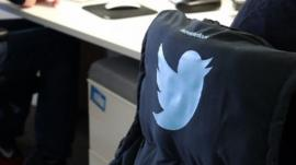 Twitter logo on jacket