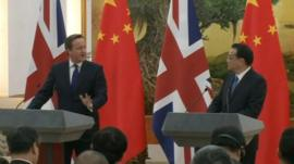 David Cameron and China's Prime Minister Li Keqiang