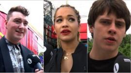 Sam Smith, Rita Ora and Jake Bugg