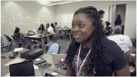 Nia Johnson at Black Girls Code