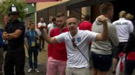England fans ahead of the England v Uruguay game in Sao Paulo