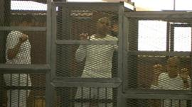 Al-Jazeera journalists in Egyptian court