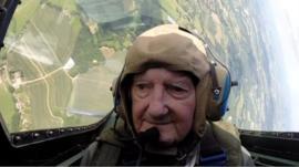 Neville Croucher in a Spitfire