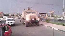 Isis truck in Mosul